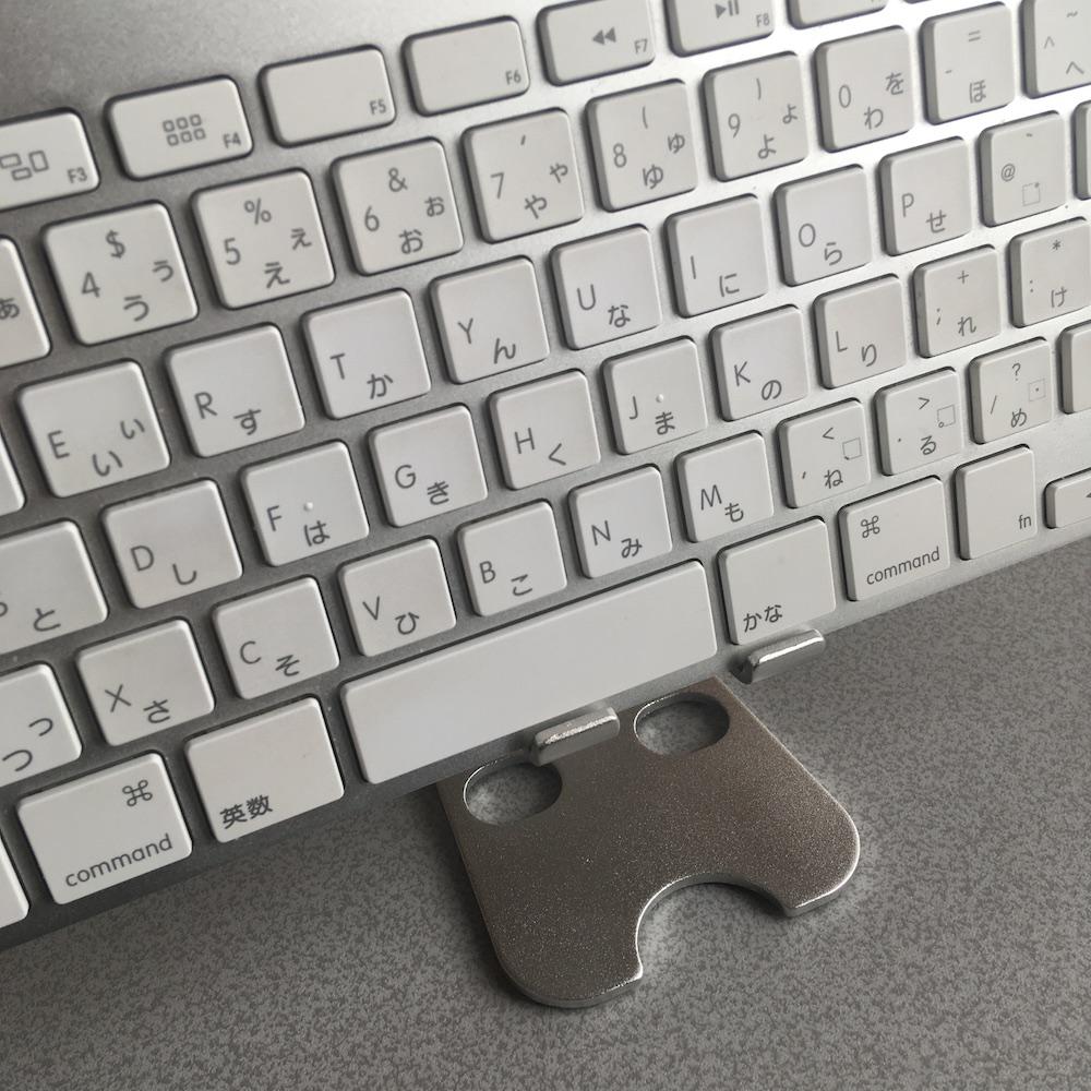 アルミ製 スマホ スタンド キーボード使用例